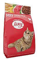 Сухой корм Мяу для взрослых кошек с мясом,0,4кг