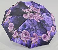 Качественный женский зонт от дождя *хризантема* полуавтомат анти-ветер