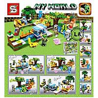 Конструктор Майнкрафт Minecraft SY847 6в1: 386 деталей, строение + фигурки