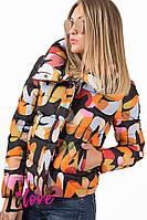 Женская укороченная зимняя куртка №43-255