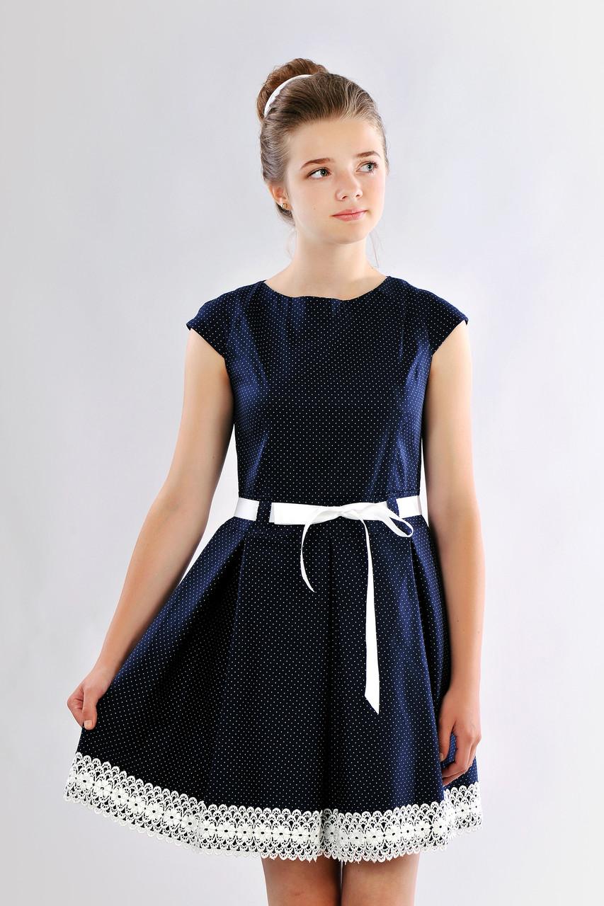 Красивое приталенное подростковое платье, школьная форма для девочки в школу