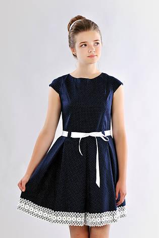 Красивое приталенное подростковое платье, школьная форма для девочки в школу, фото 2