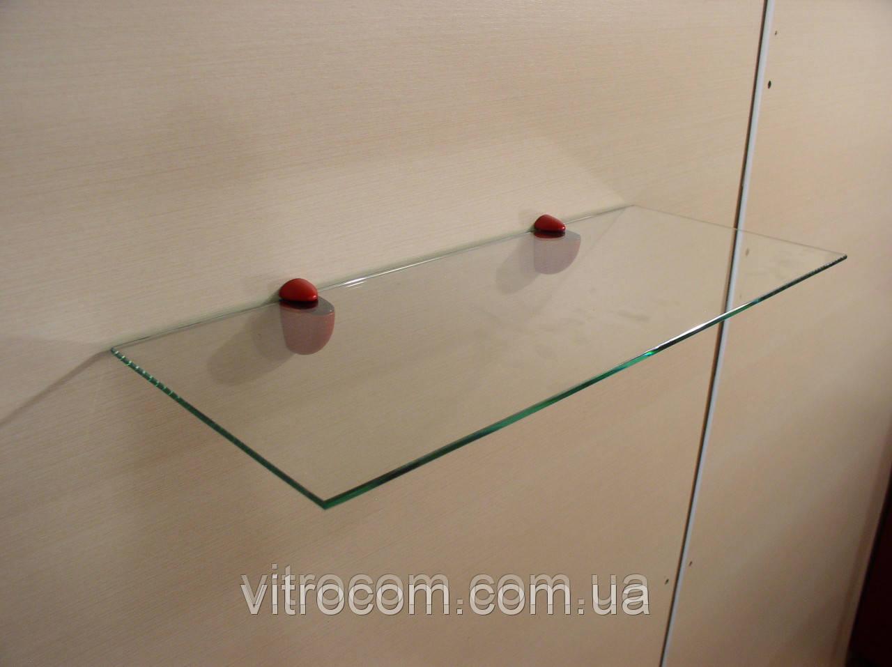 Полка стеклянная прямая 5 мм прозрачная 40 х 15 см