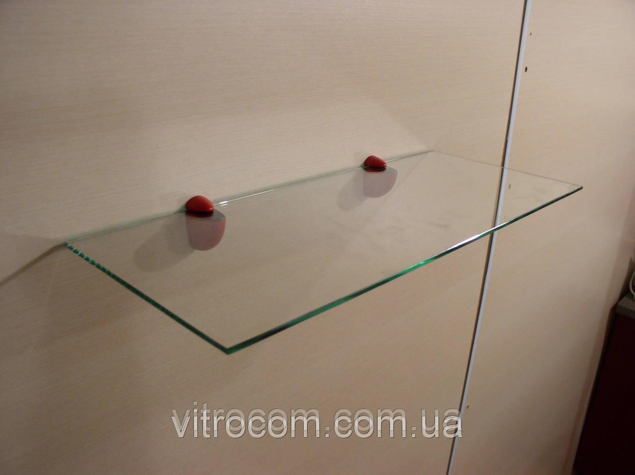 Полка стеклянная прямая 6 мм прозрачная 60 х 12 см