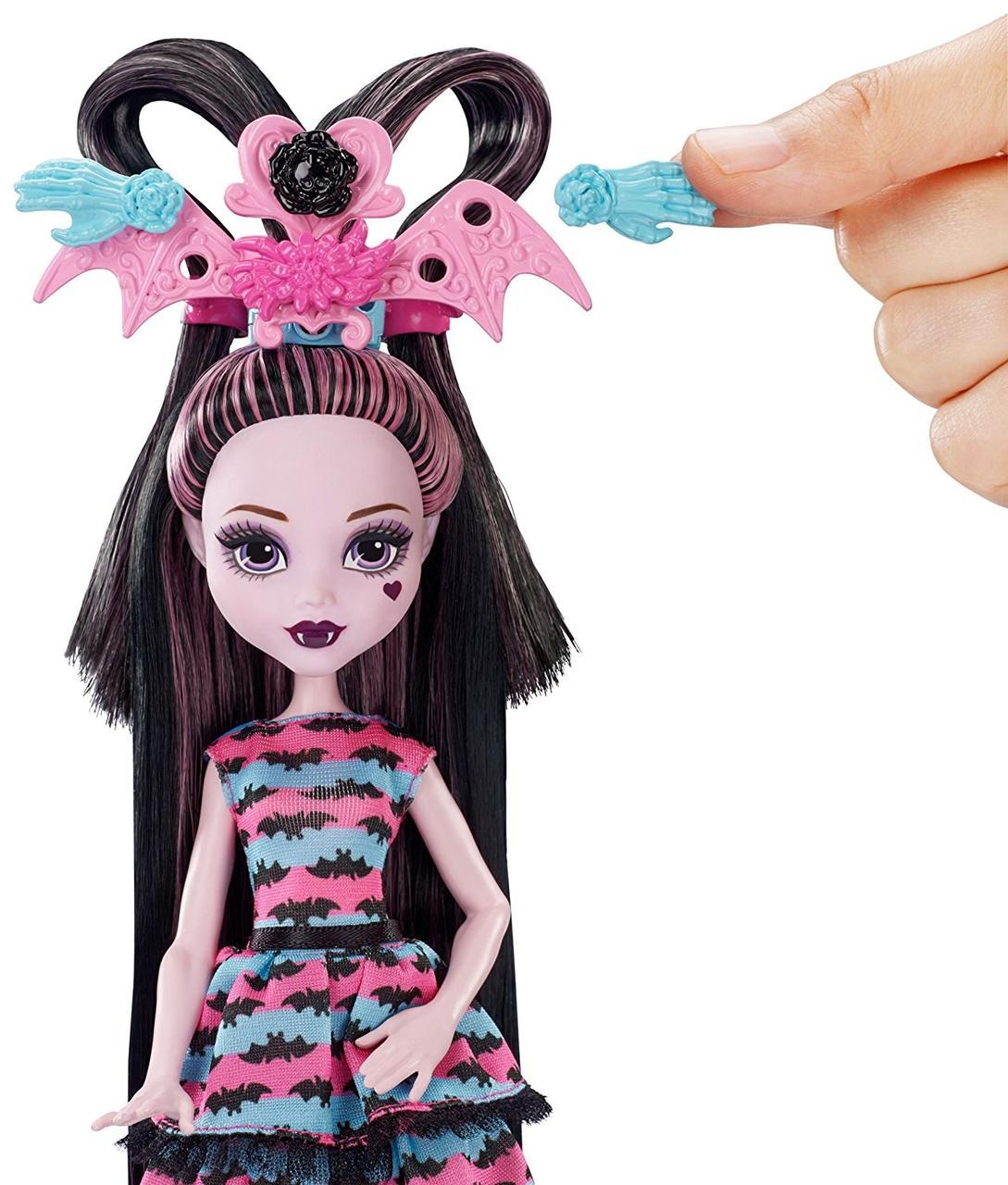Кукла Монстер Хай Дракулаура Вечеринка причесок Стильные прически Monster High Girls Party Hair Draculaura
