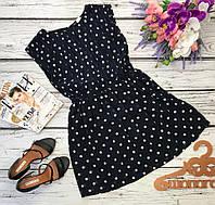 Шифоновое платье с пышной юбкой в актуальный принт polka dot  DR30062