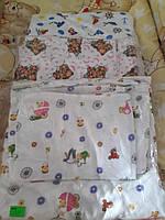 Фланелевое постельное белье в кроватку 3 эл.