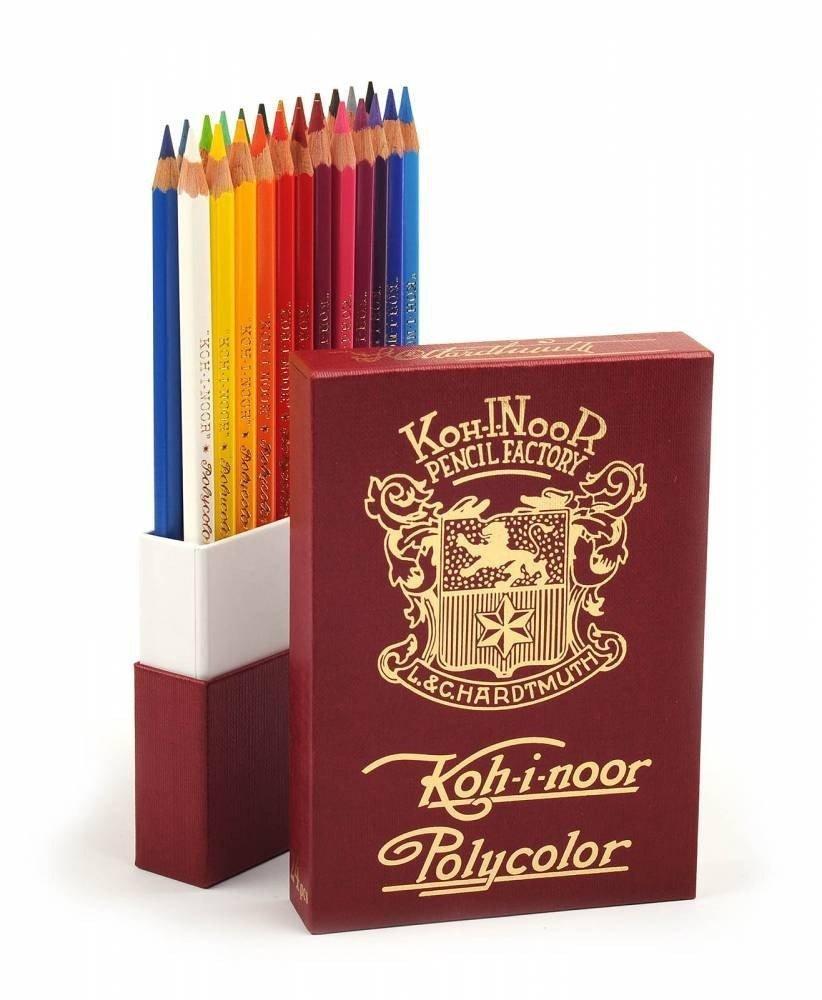"""Художественные цветные карандаши """"Retro Polycolor"""" 24 цв.  Подарочная упаковка"""