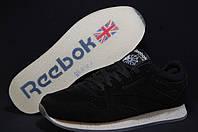 Reebok Classic Black  мужские  кроссовки натуральный замш