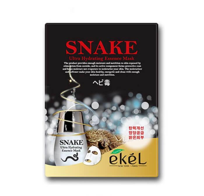 Корейская тканевая маска с пептидом змеи Ekel Snake Ultra Hydrating Essence Mask