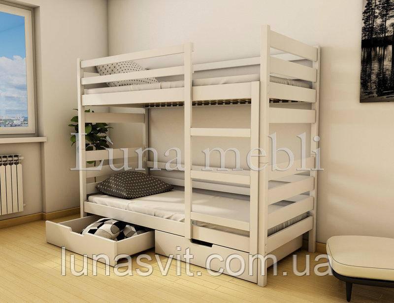 двухъярусная кровать трансформер амели 80160 детская кровать