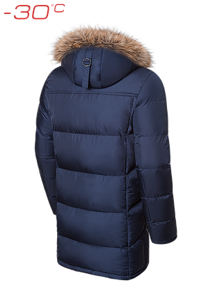 Мужской зимний темно-синий пуховик Braggart (р. 46-56) арт. 4126, фото 2
