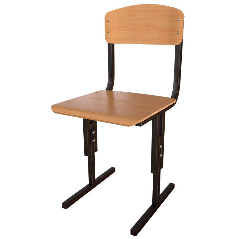 Стул школьный регулируемый по высоте с гнутоклееной фанерой для учебных заведений и школ