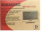 NokaSonic телевизор с DVD NK1604, цветной светодиодный телевизор