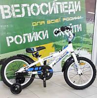 """Велосипед Pride 16"""" ARTHUR 2014 алюмінєвий білий/синій/гланцевий SKD-16-65"""