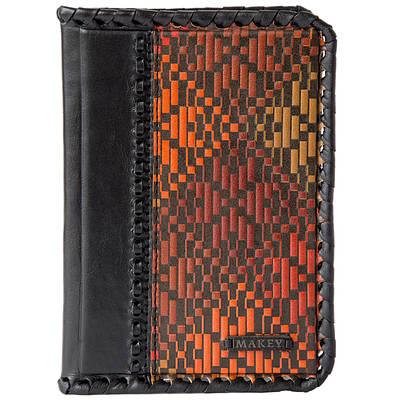 """Обложка на паспорт из кожи """"Ткаля"""" Makey (509-10-43)"""