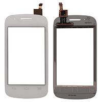 Оригинальный тачскрин / сенсор (сенсорное стекло) Alcatel One Touch Pop C1 4015 4015A 4015D 4015N 4015X белый