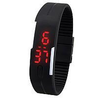 Силиконовые наручные часы-браслет EK-01 - Black
