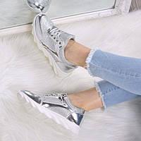 Кроссовки женские Silver Cross серебро 3499, спортивная обувь