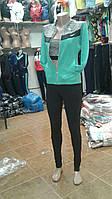 Спортивный женский фитнес костюм тройка Nike с топом