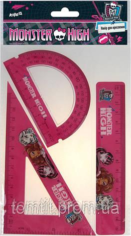 """Набор для черчения (3 предмета) - """"Monster High"""", фото 2"""