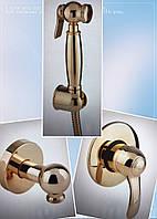 Золотой гигиенический душ со смесителем скрытого монтажа Bianchi Class Италия