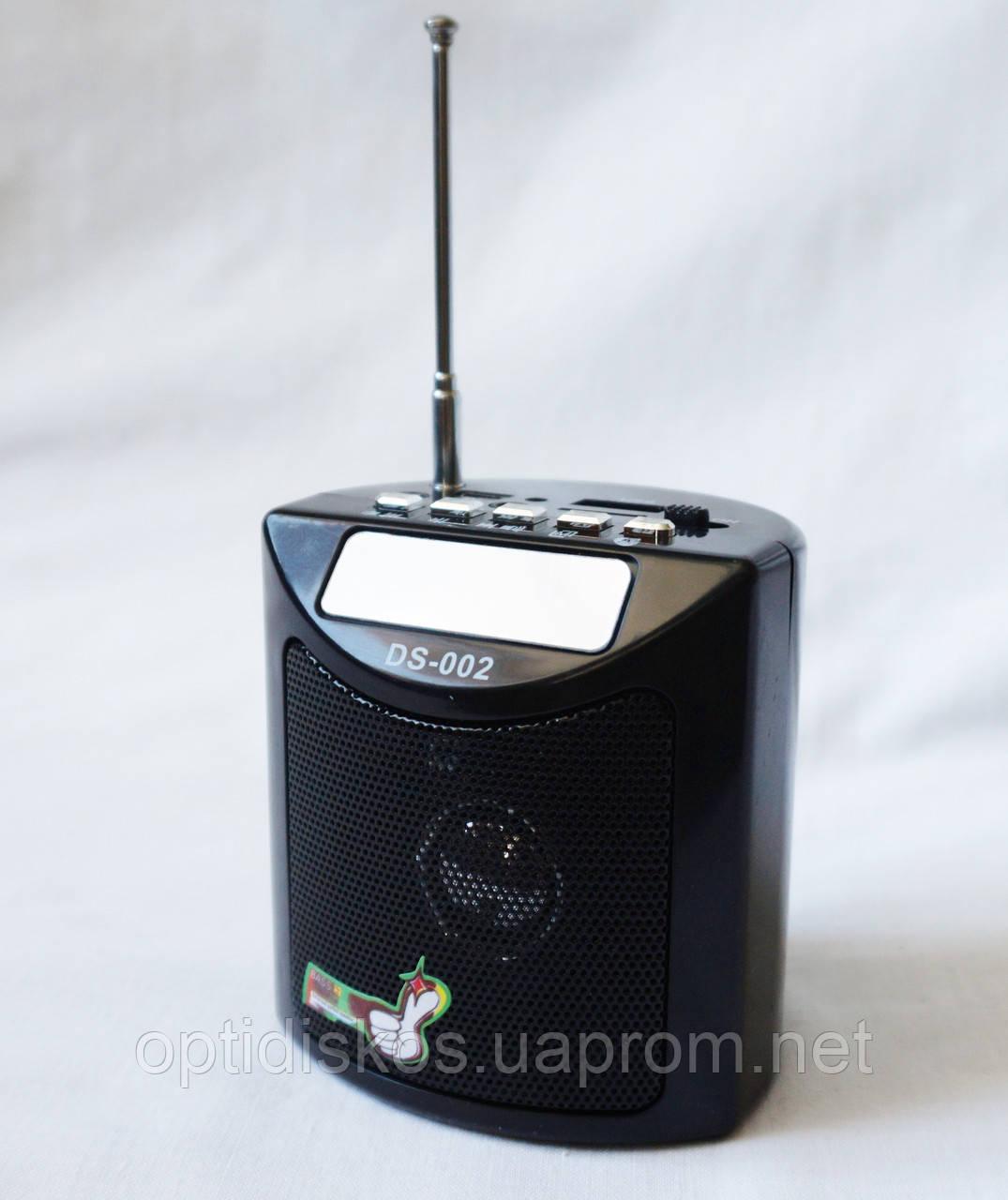 Портативная колонка SPS DS 002, радио, usb, micro sd
