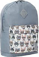 Рюкзак  молодежный Bagland городской. Котики