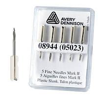 Иголки MKII для игольчатого пистолета Avery Dennison (Fine)  оправа пластик (в уп 5 штук)