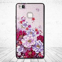 Силиконовый чехол для Huawei P9 Lite с картинкой Цветы