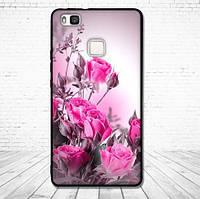 Силиконовый чехол для Huawei P9 Lite с картинкой Розовые цветы
