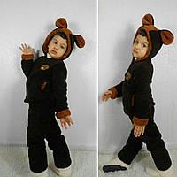 Детская теплая пижама домашний костюм Заяц № 082 (рош)