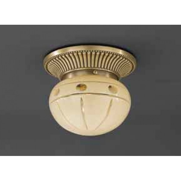 Потолочный светильник RECCAGNI ANGELO PL 7703/1 bronzo/ crema classico