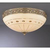 Потолочный светильник RECCAGNI ANGELO PL 7004/4 bronzo/ crema classic