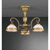 Потолочный светильник RECCAGNI ANGELO PL 7970/3  bronzo/ vetro bianco