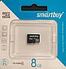 Карта памяти микро SDHC Smart Buy 8 гб класс 4 без адаптера