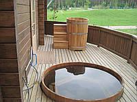 Бочка для бани, сауны деревянная