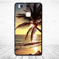 Оригинальный чехол накладка для Huawei P9 Lite с картинкой Пляж