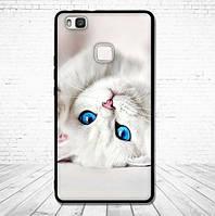 Оригинальный чехол накладка для Huawei P9 Lite с картинкой Белый котенок