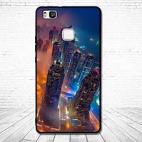 Оригинальный чехол накладка для Huawei P9 Lite с картинкой Город