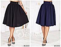 Школьная стильная юбка клеш. Два цвета.