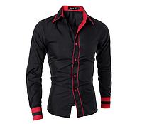 Рубашки мужские классика с длинными рукавами