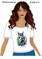 """Женская футболка c рисунком """"Цветная сова''"""
