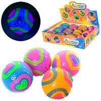 Мяч массажный MS 1136,7 см, 12 шт. в упаковке (Y)