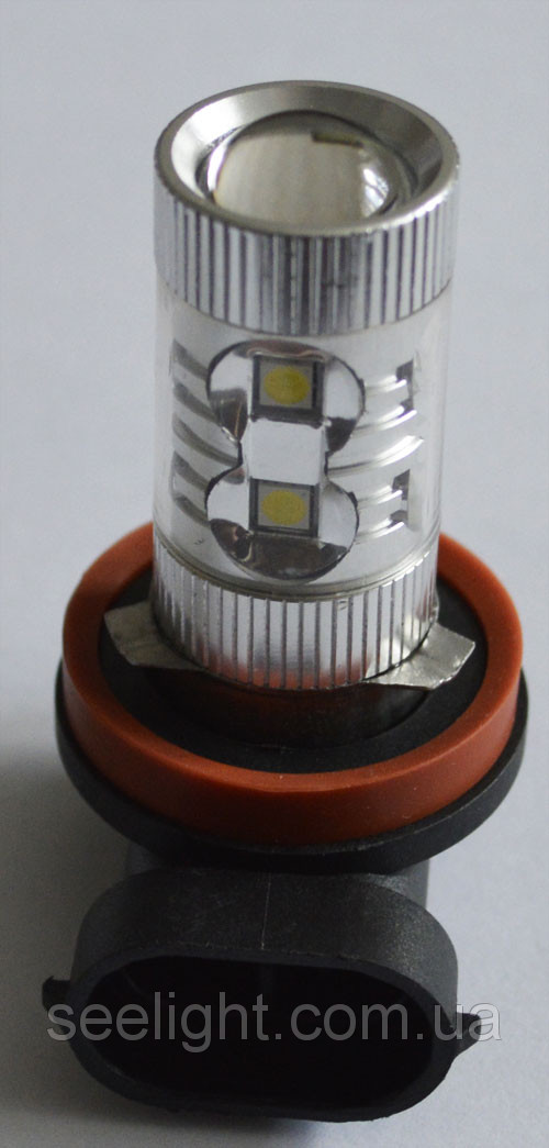 Светодиодная лампа SLP LED в противотуманные фонари с цоколем H11 Epistar 60W 9-30V 950lm Белый