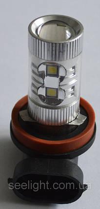 Светодиодная лампа SLP LED в противотуманные фонари с цоколем H11 Epistar 60W 9-30V 950lm Белый, фото 2