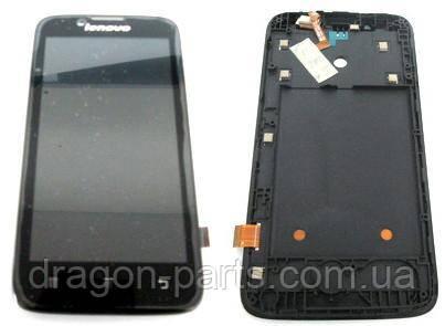 Дисплей Lenovo A328 с сенсором черный/black , оригинал 5D19A6N2BU, фото 2