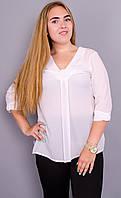 Иссида.Нарядная блуза больших размеров. Белый.