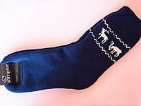 Мужские зимние махровые носки с оленями
