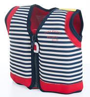 Детский плавательный жилет Konfidence Original Blue Stripe (KJ15-C), фото 1